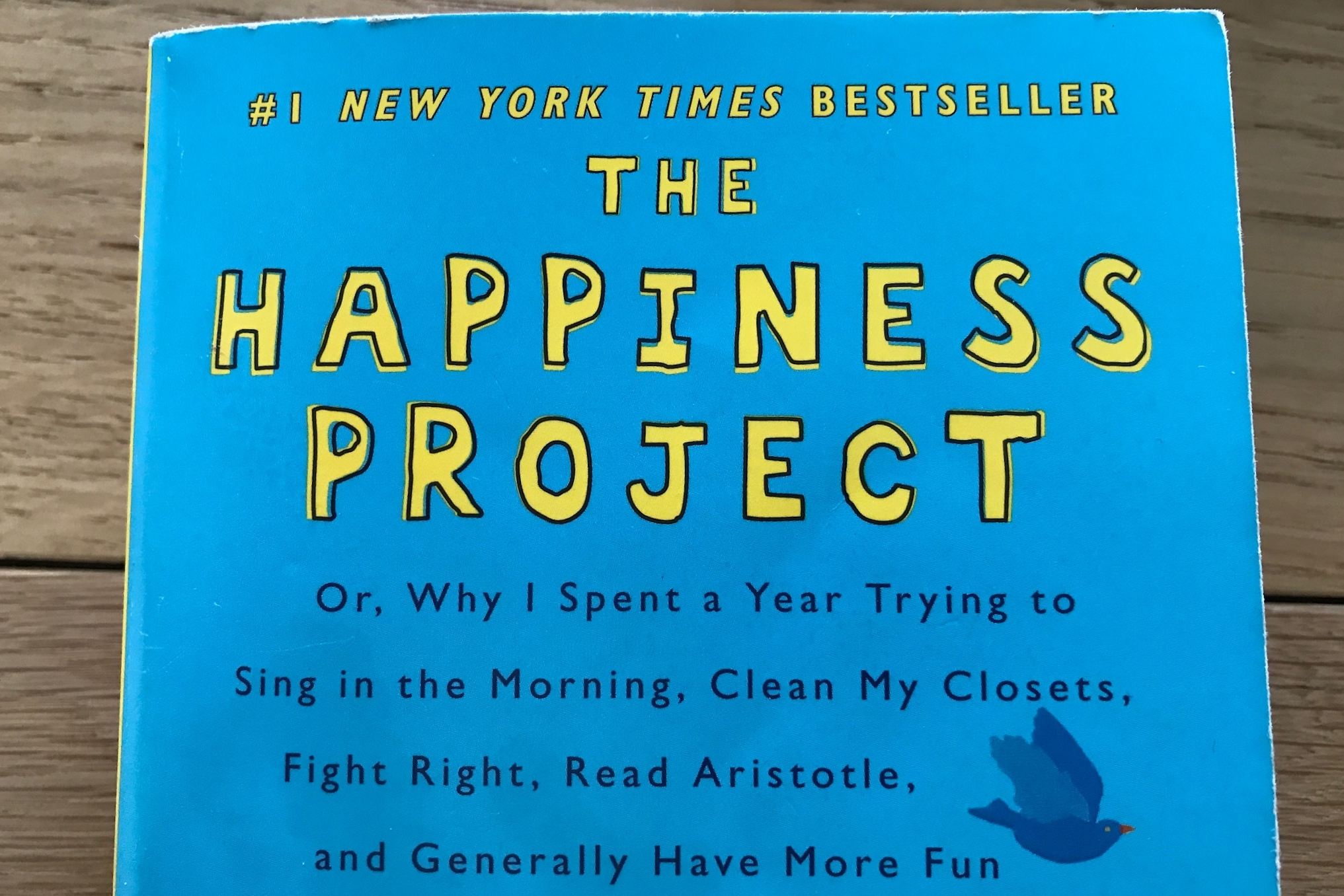 "Cover van het boek ""The Happiness Project"" van Gretchen Rubin"