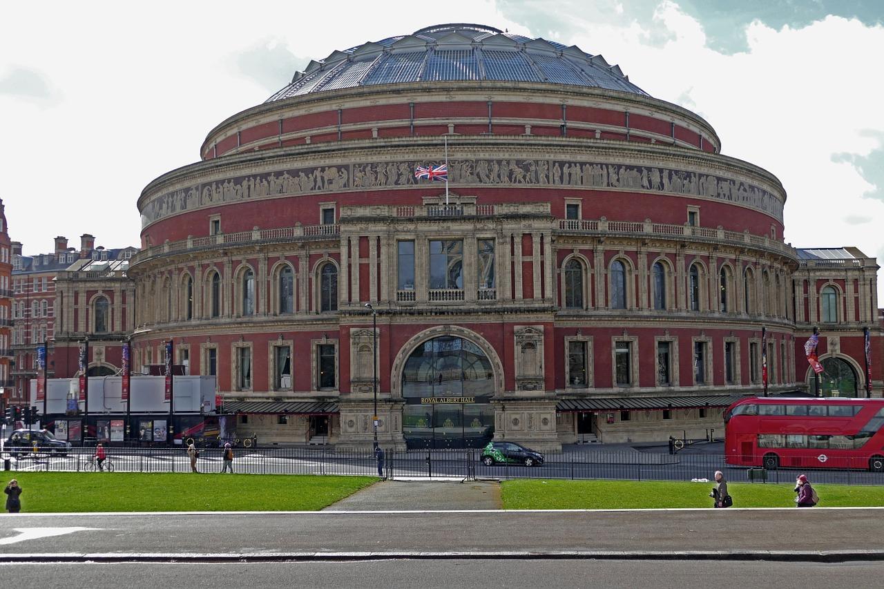 Naar een voorstelling in de Royal Albert Hall Londen