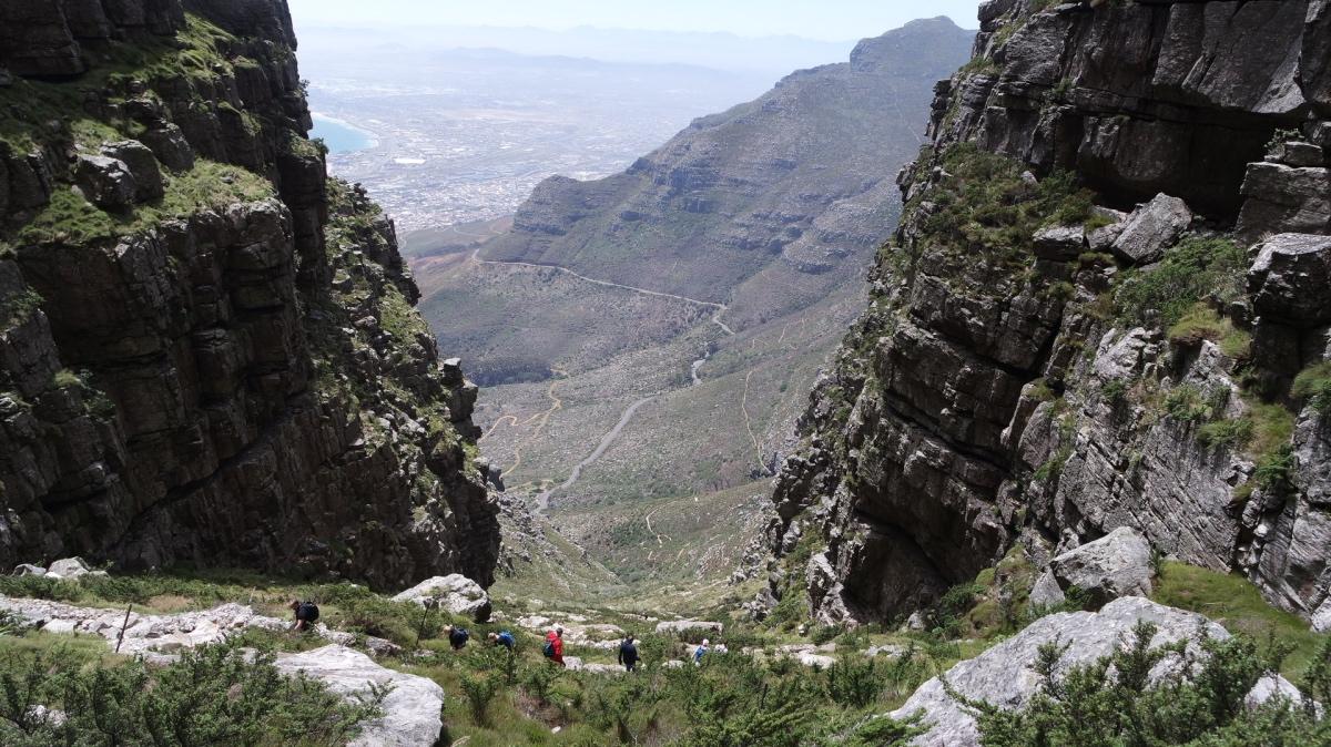uitzicht vanaf de Tafelberg in Kaapstad